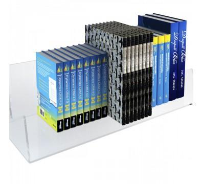 E-429 ELB-B - Mensola porta libri in plexiglass trasparente