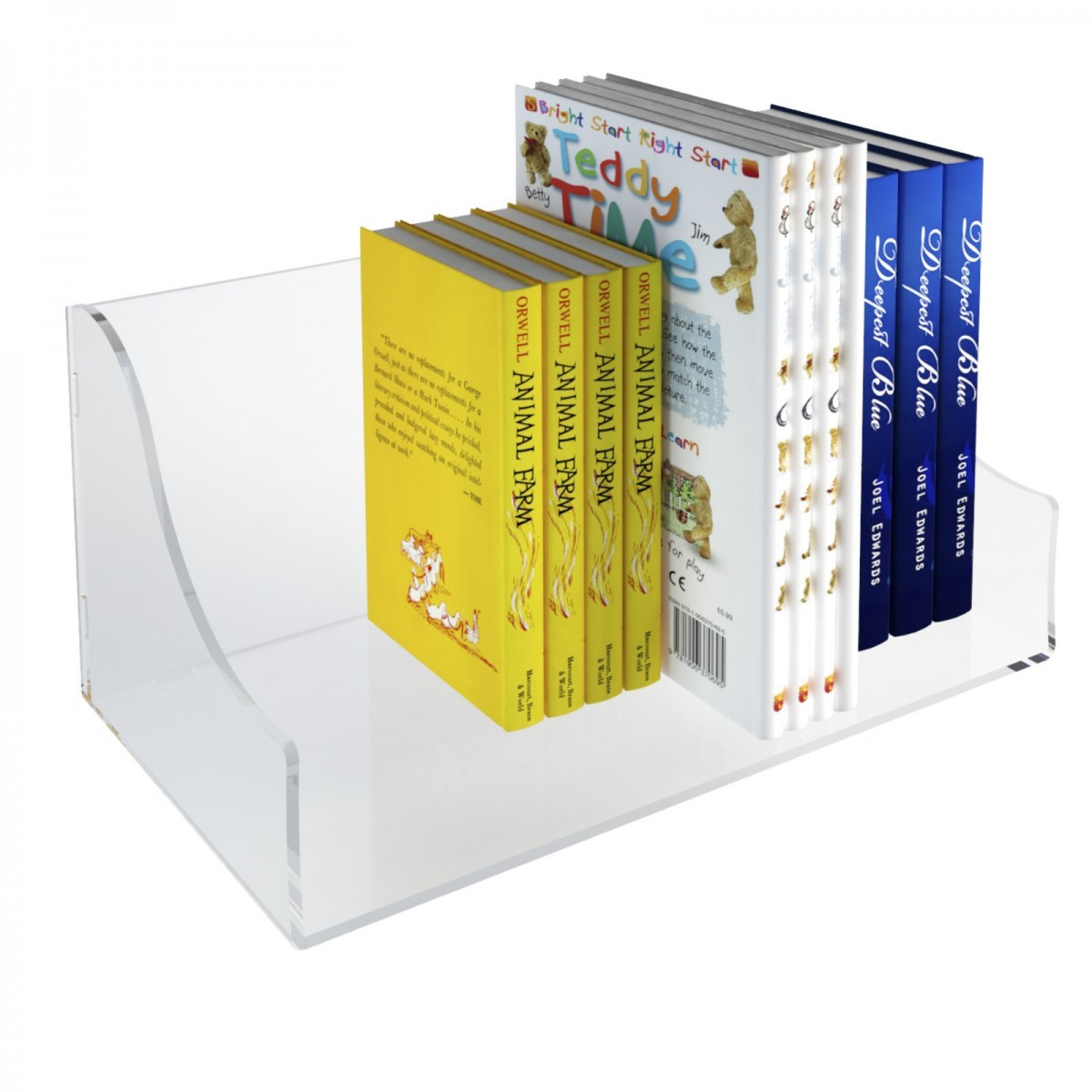 E-430 ELB-A - Mensola porta libri in plexiglass trasparente