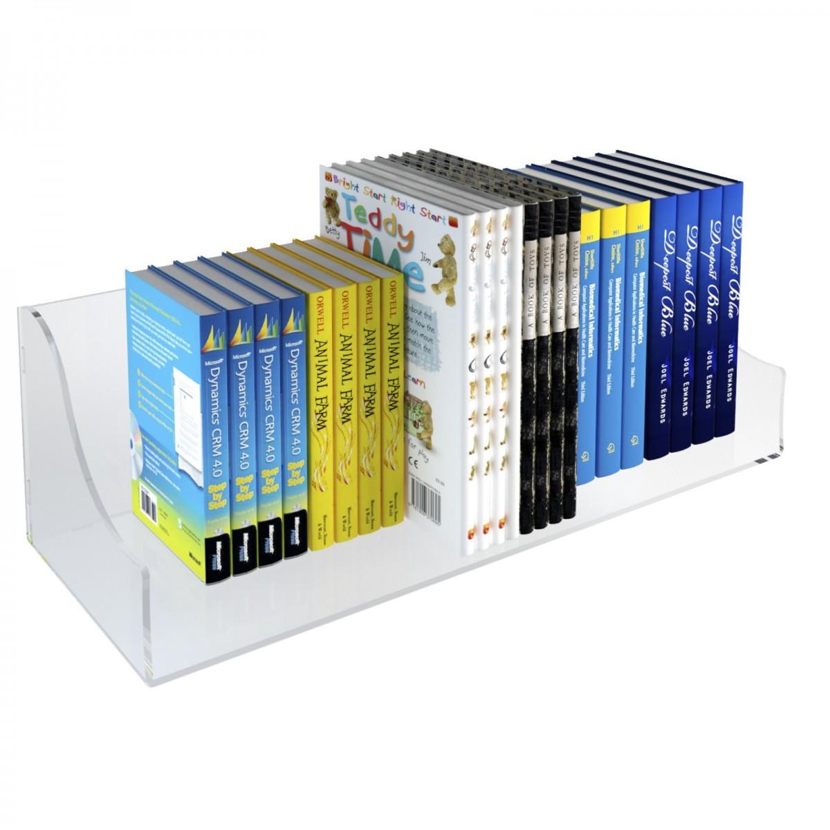 E-430 ELB-B - Mensola porta libri in plexiglass trasparente