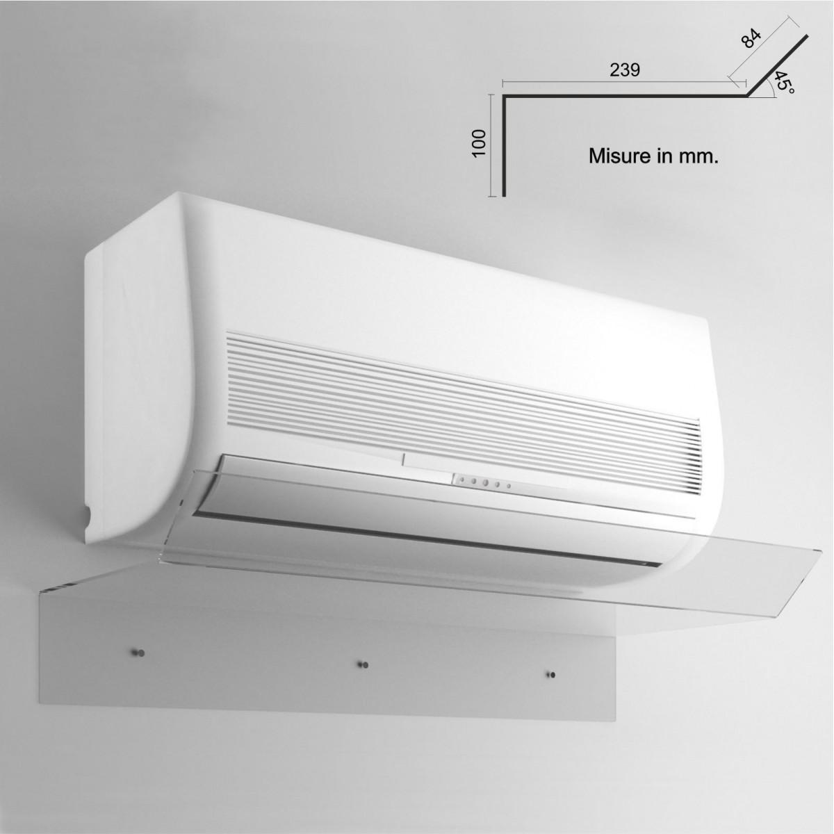 Deflector para aire acondicionado deflector para aire acondicionado en plexiglás transparente