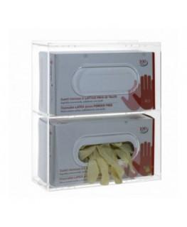 Porta guanti o dispenser per guanti capacità 2 scomparti...