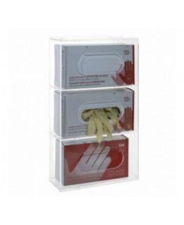 Porta guanti o dispenser per guanti capacità 3 scomparti...