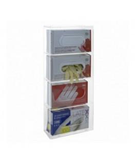 Porta guanti o dispenser per guanti capacità 4 scomparti...