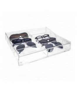 E-526 EPO - Porta occhiali capacità 8 scomparti con rendiresto - CM(LxPxH): 35x29x6