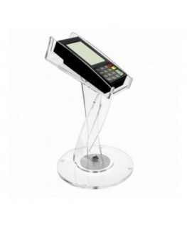 Porta POS in plexiglass trasparente girevole a 1 posto -...