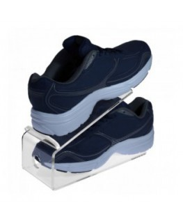E-530 PSC - Espositore porta scarpe in plexiglass trasparente - CM(LxPxH): 26x10x16