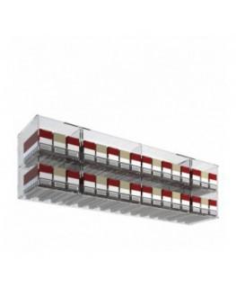 E-535 ESS-B - Espositore porta sigarette da banco o da soffitto in plexiglass trasparente per pacchetti da 20 a 32 postazioni...