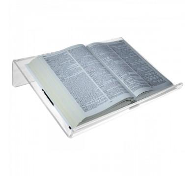 Leggio da tavolo in plexiglass trasparente con ripiano inclinato - CM(LxPxH): 45x34x10