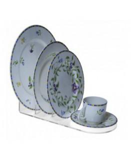 E-577 PPT - Espositore per piatti e tazzina set completo - CM(LxPxH): 30x14.5x15.