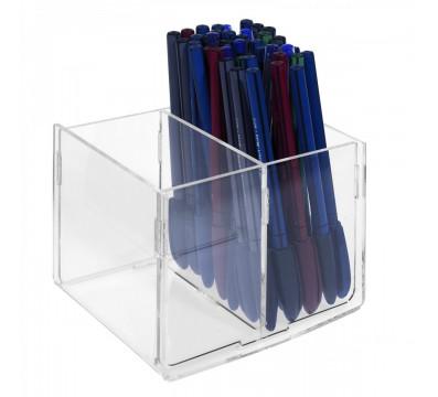 Porta penne da banco capacità 2 vaschette - CM(LxPxH): 13.5x11.5x10