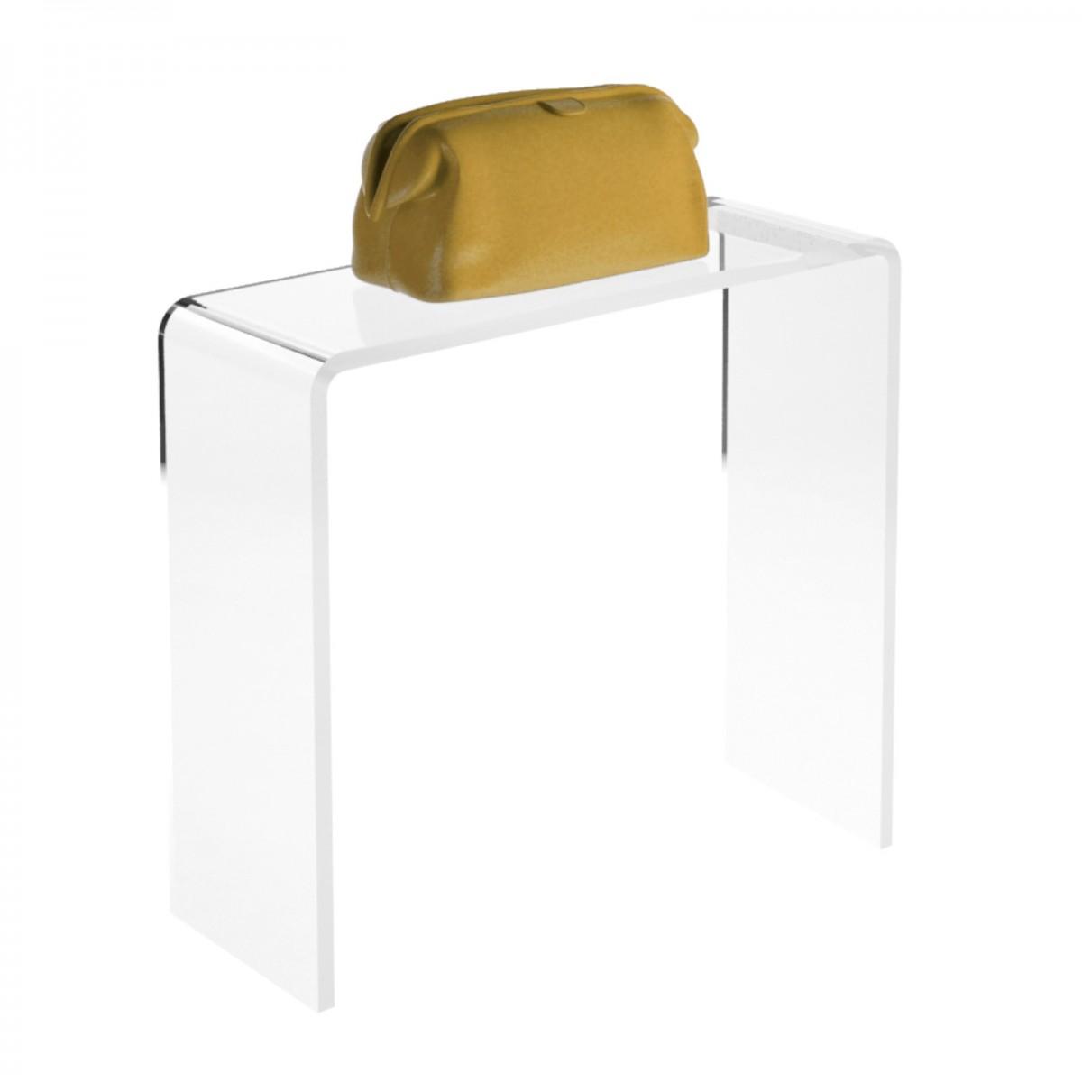 Tavolino plexiglass trasparente - Misure: 12 x 10 x H10 cm