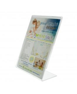 Porta cartellini in plexiglass trasparente