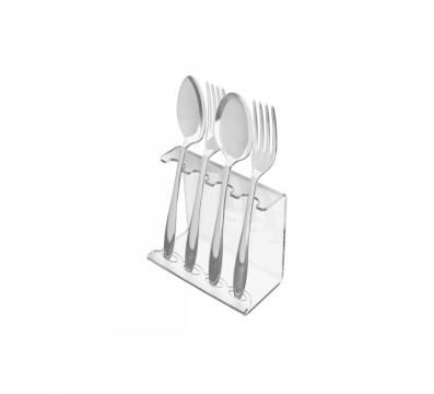 Clear acrylic cutlery holder
