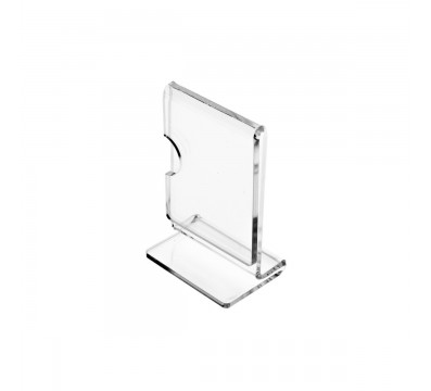 E-137 - Porta cartellini in plexiglass trasparente