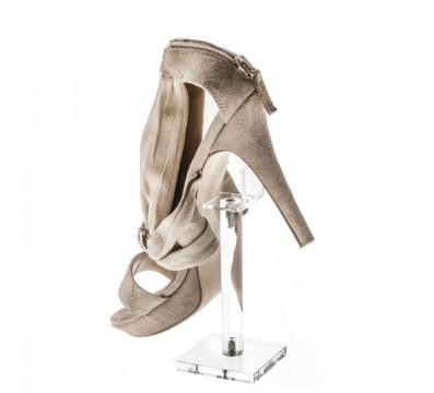 Clear Acrylic shoe riser display