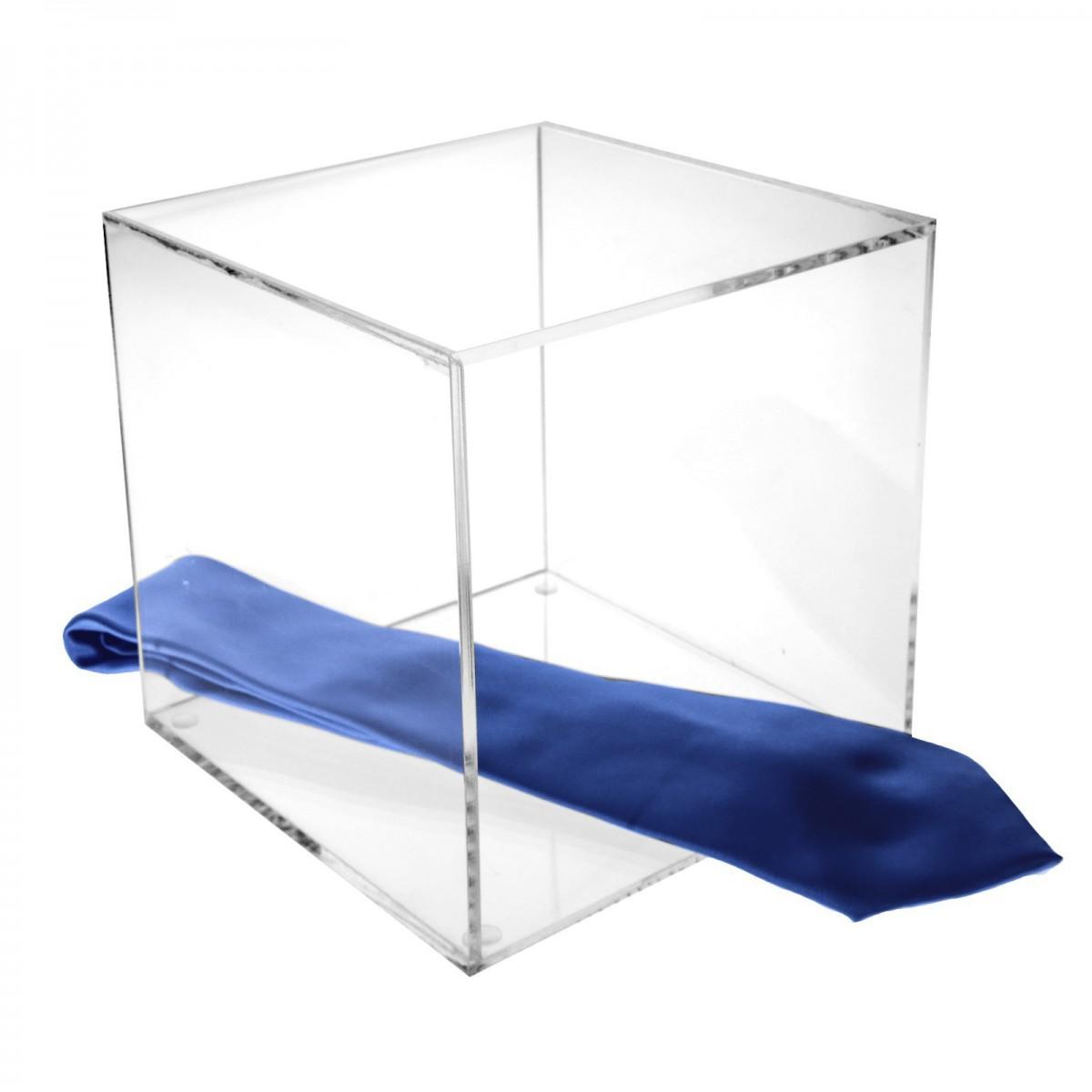 Cubo expositor en plexiglás transparente