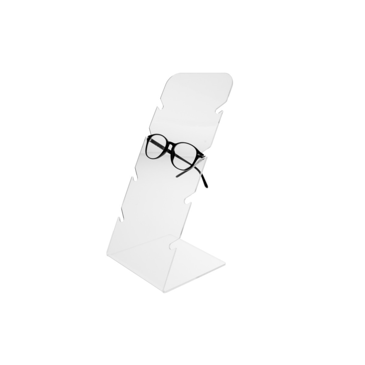 E-180 - Portaocchiali in plexiglass trasparente