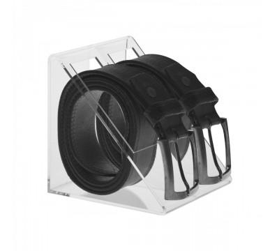Porta cintura in plexiglass trasparente a 2 postazioni