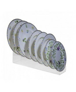 E-654 PPT - Espositore per piatti in plexiglass trasparente a 8 scomparti