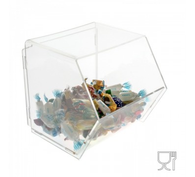 Clear Acrylic candy bin without locking door