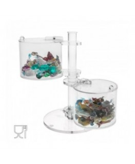 Clear acrylic candy bin with 2 Rotating compartments