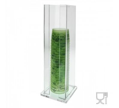 Clear Acrylic ice-cream cup dispenser – H 45 cm.