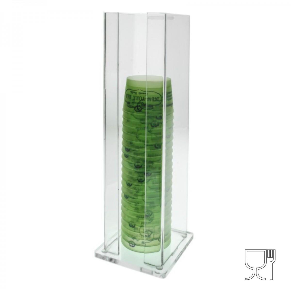 Eisbecherhalter aus Plexiglass, transparent - H 45 cm.