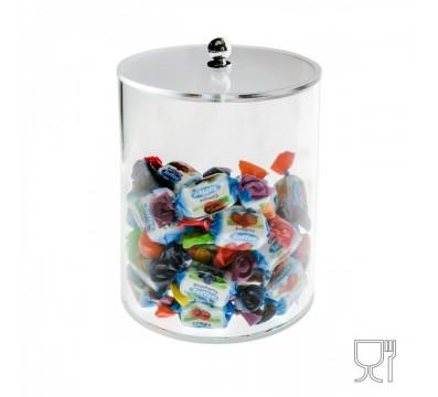 Circular clear Acrylic candy bin