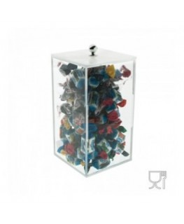 Clear Acrylic candy bin with a squared base