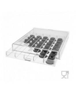 E-096 POC - Porta capsule caffè in plexiglass trasparente