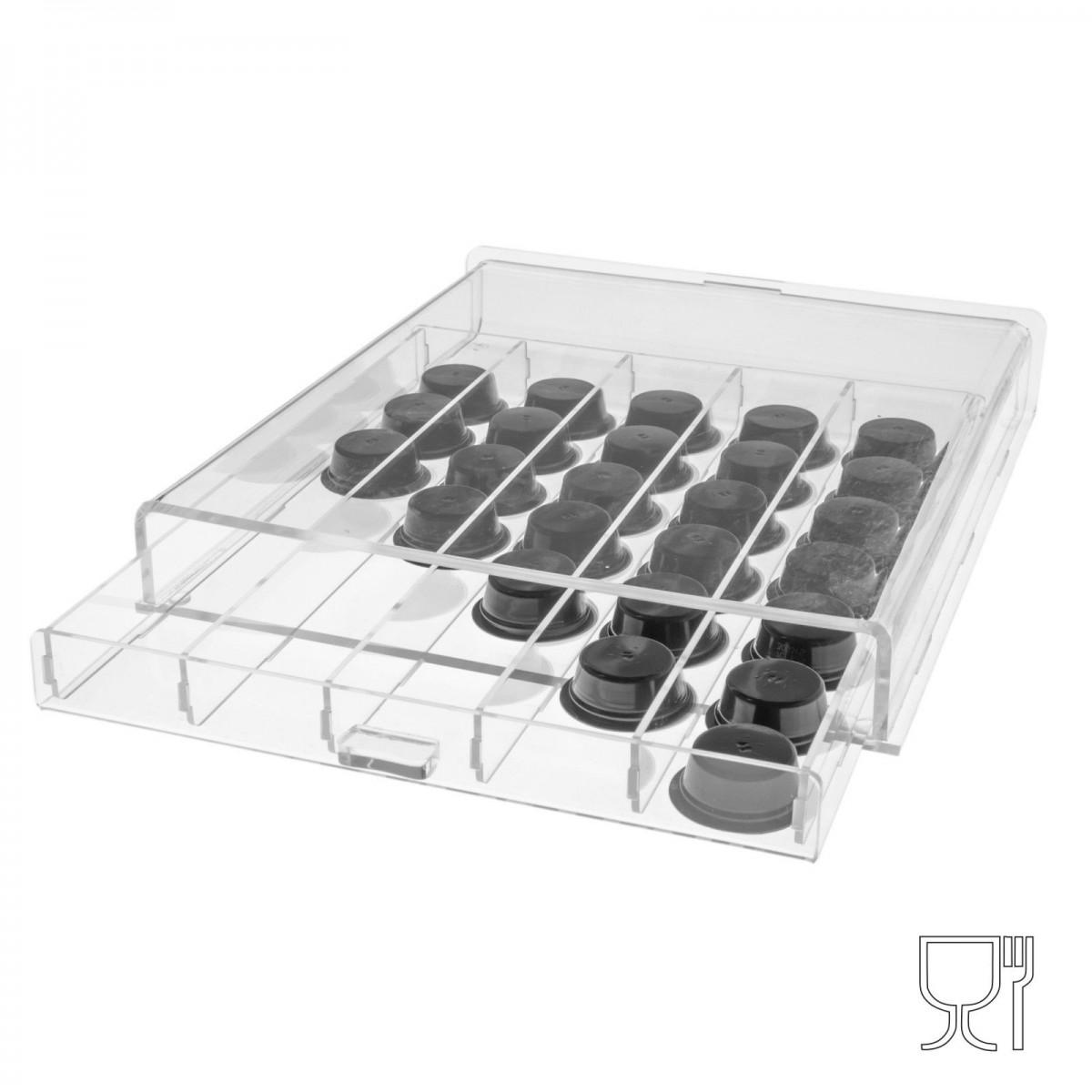 Clear Acrylic coffee capsule box holder