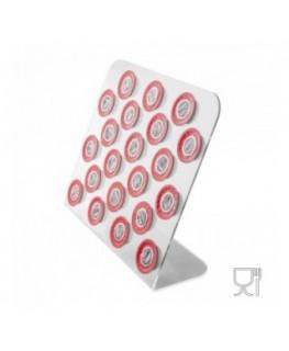 E-098 POC - Porta capsule caffè da banco in plexiglass trasparente - Capienza 21 Capsule