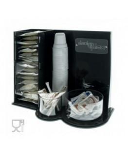 E-099 POC - Porta cialde e bustine per caffè realizzato in plexiglass nero e trasparente