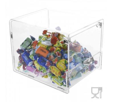 Clear acrylic candy display