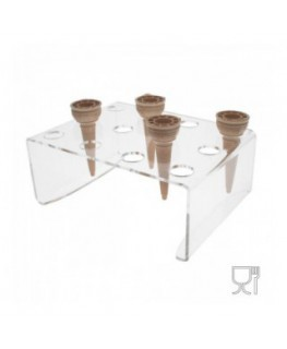 Clear Acrylic ice-cream cone holder with 12 holes