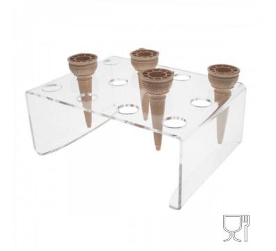 E-011 PCN - Porta coni da banco in plexiglass trasparente a 12 fori