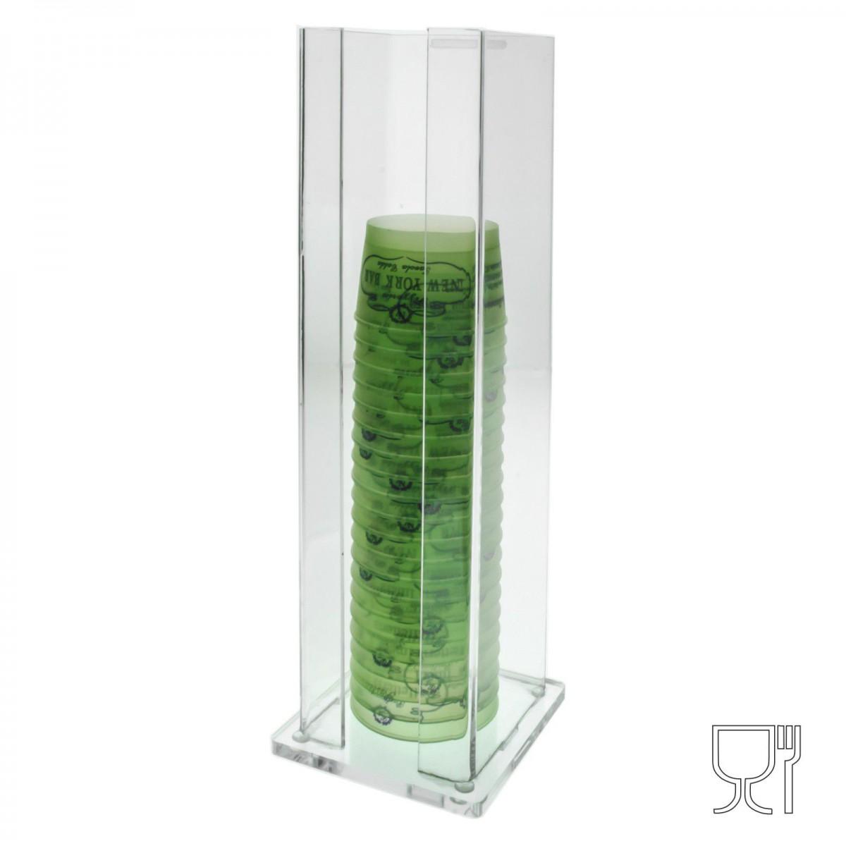 Porta coppette in plexiglass trasparente – H36 cm