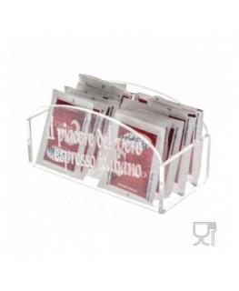 E-027 PB - Porta bustine zucchero in Plexiglass trasparente