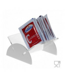 Clear and coloured acrylic countertop sugar sachet holder