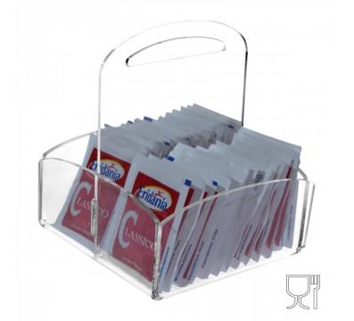 Clear acrylic countertop sugar sachet holder