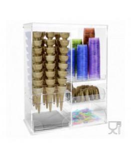E-167 VEP - Vetrina multiuso in plexiglass trasparente - Misure: 47 x 24 x H62 cm