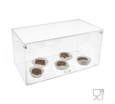 E-185 VET - Vetrina da banco in plexiglass trasparente - Misure: 40 x 20 x H20 cm