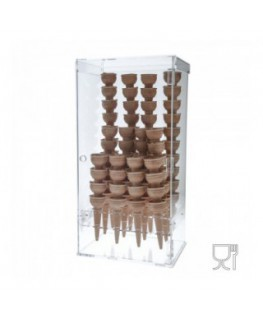 Clear Acrylic ice-cream cone holder – 120 Cone Capacity