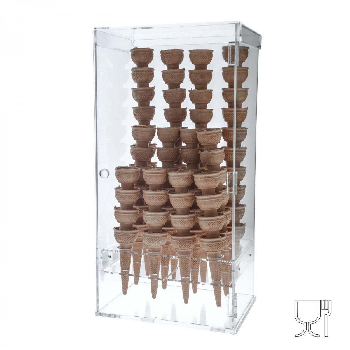 E-192 PCN - Porta coni gelato in plexiglass trasparente a 12 fori