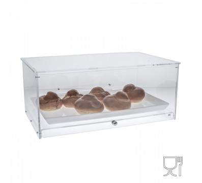 Clear Acrylic countertop display case – 1 Compartment
