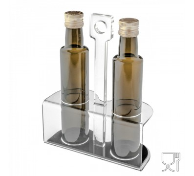 Clear acrylic oil bottle
