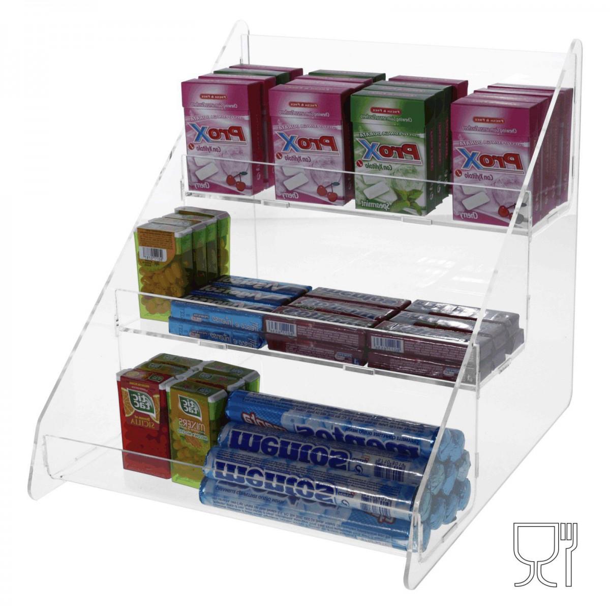 Clear acrylic countertop candy bin