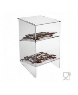 E-224 - Porta caramelle in plexiglass trasparente con Ripiano Inclinato
