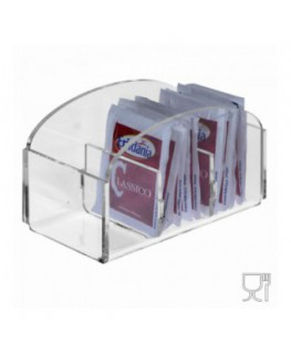 3-slot sugar packet holder in transparent Plexiglass - CM(LxPxH): 12.5x6x6.5