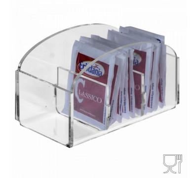 Porta bustine zucchero capacità 3 postazioni - CM(LxPxH): 12.5x6x6.5